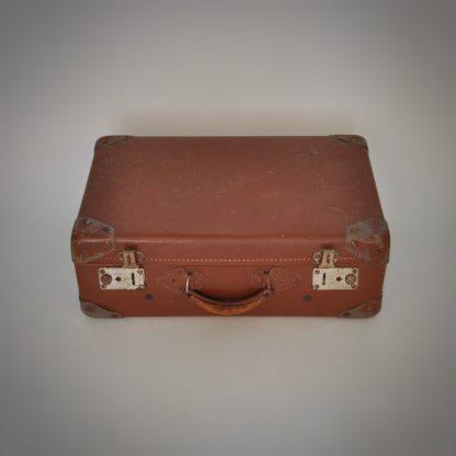 Luxe Franse Reiskoffer Cognac Bruine Vintage koffer