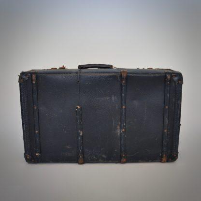Zwarte brocante vintage reiskoffer