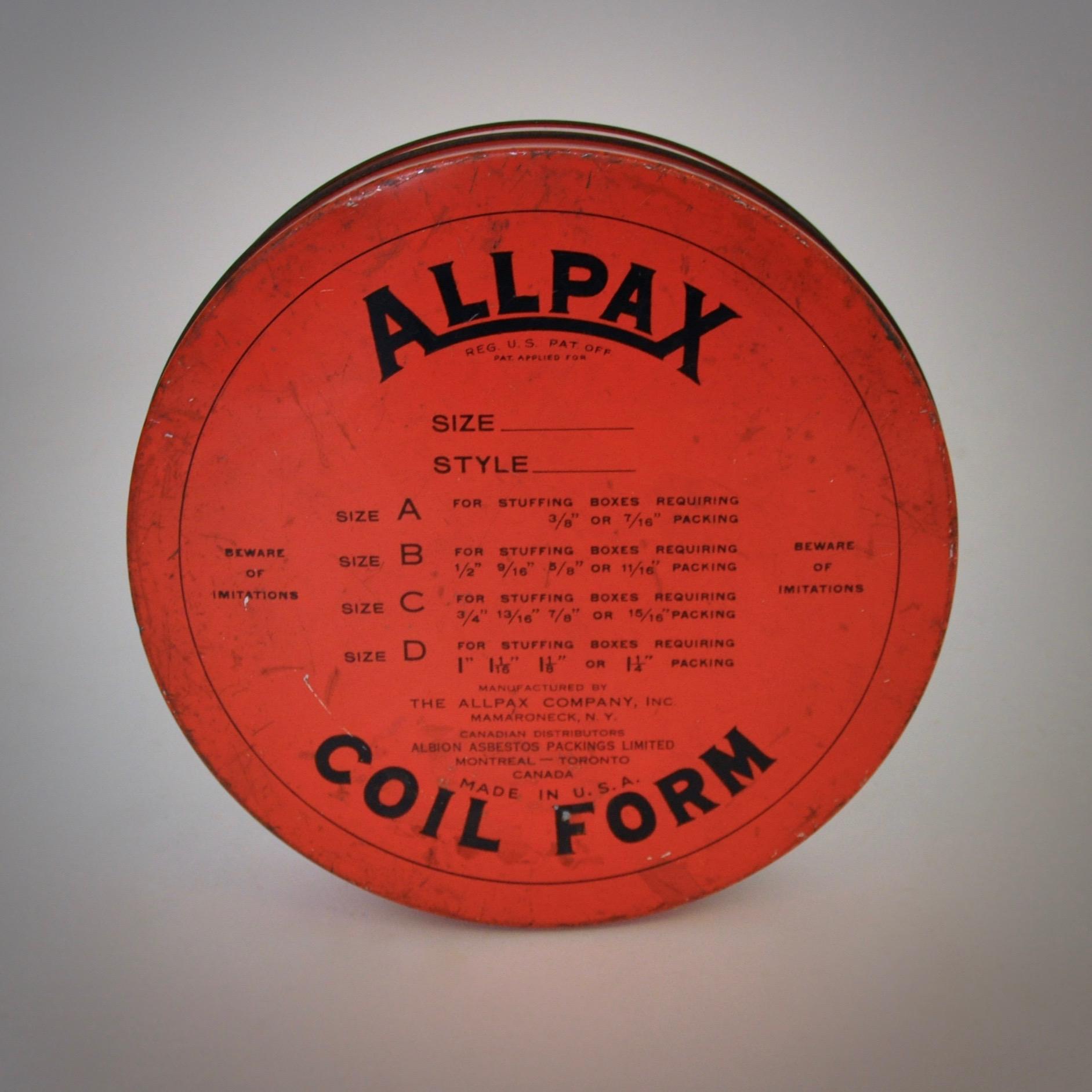Allpax Coil Form Filmblik