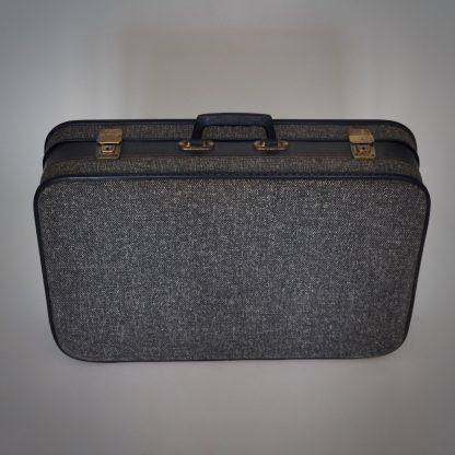 leuk reiskoffertje of vintage koffer in antraciet
