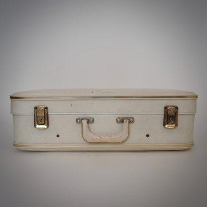 Brocante koffer wit met gouden elementen