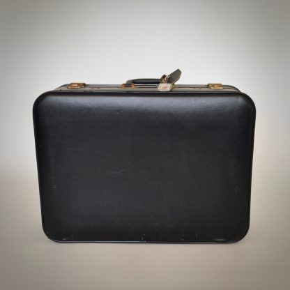 Medium formaat zwarte vintage koffer