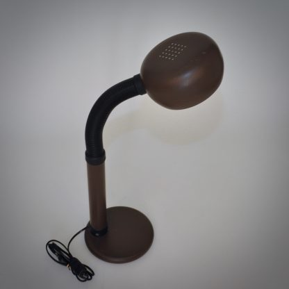 Jaren 70 tafellamp voor in de werkkamer met verstelbare arm en robuuste kop