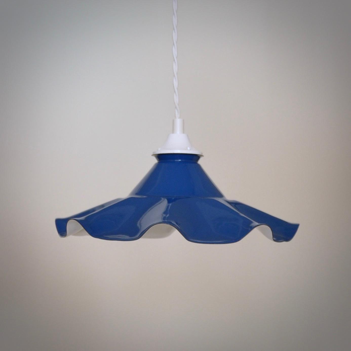 Brocante emaille hanglamp dutch vintage design