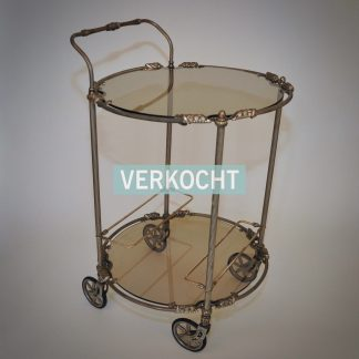 koffiewagen trolley zilver rookglas romantisch chique