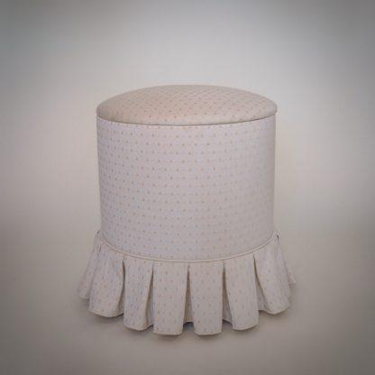 Vintage boudoir set damesstoel met naaipoef