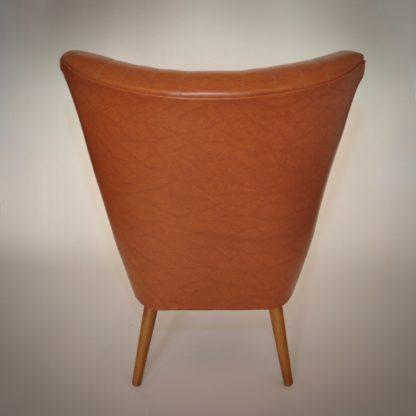 Vintage cocktailstoel jaren 70 70s cognac uitstekende conditie