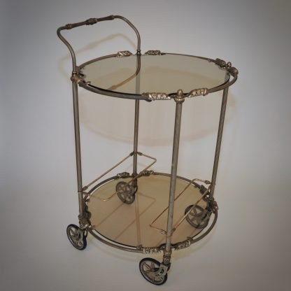 Zilver rookglas trolley