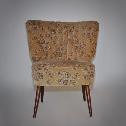 Cocktailzetel vintage fauteuil bloem bekleding