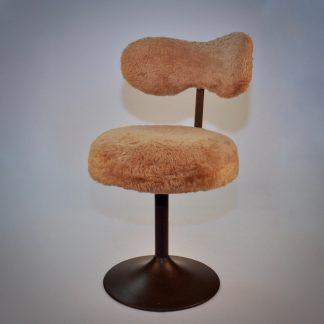 Vintage retro pluche stoel jaren 60 jaren 70