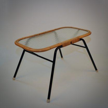 Retro rattan table vintage bohemien