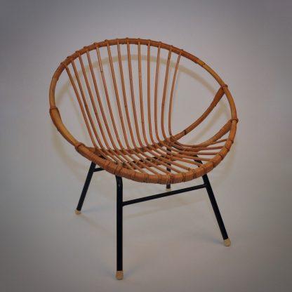 Retro rotan stoel Bohemien Vintage